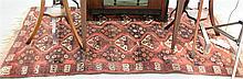Bokhara Oriental throw rug, 3'6