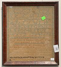 Sampler, marked Miss Mary B. Pratts wrought in her 7th year Hartford April 18, 1814. 12