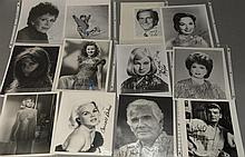 Group of 23 photographs, 21 are autographed including 1 Richard Benjamin, 4 Anne Blyth, 1 Ann Bancroft, 1 Gene Barry, 1 Ernest Borgn...