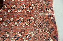 Bokhara Oriental carpet (worn). 7'2