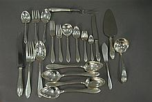 Sterling flatware set, 72 pieces, 93.9 t oz. plus 15 weighted handles.