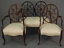 Three piece set including settee lg. 41