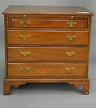 Kittinger Williamsburg Chippendale style bachelor's chest, ht. 31 1/2 in.; wd. 31 1/2 in.