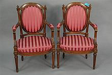 Pair of Louis XVI armchairs.