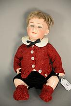 German baby bisque head doll, close mouth. lg. 13 in.