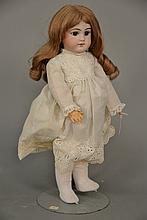 DEP bisque head doll, close mouth. lg. 18 in.