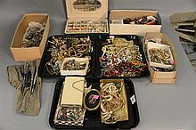 Large lot of Victorian and costume jewelry.