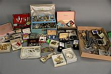 Large lot of costume jewelry.
