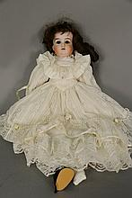Majestic German shoulder head bisque head doll. lg. 20 in.