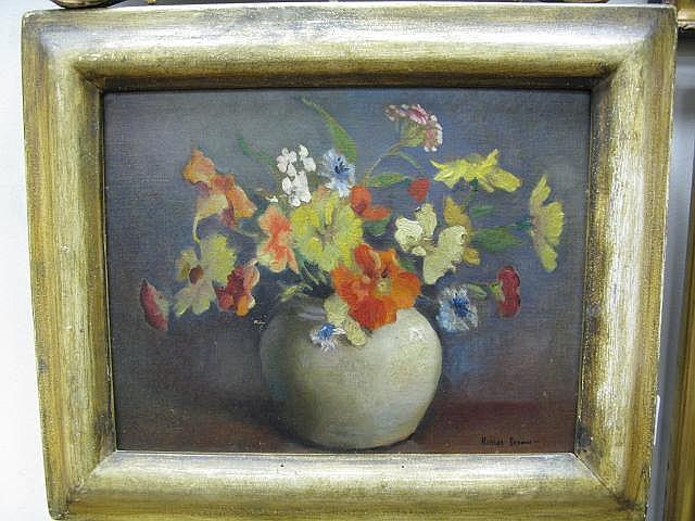 Matilda Browne (1869 - 1947 American) FLOWERS IN
