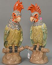 Pair of decorative birds. ht. 19 in.