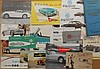 1950's-1960's MG T Series, MG A, Austin Healey brochures, 16 items