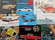1950's-1960's sports and import brochures, 26 items