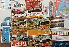1960's AMC and 1960's-1970's Jeep brochures, 111 items