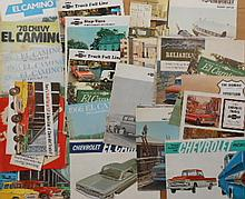 1940's-1970's truck brochures, Chev truck and El Camino, GMC truck, Sprint, Caballero, etc, 73 items