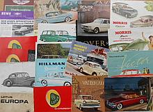 Misc British brochures from the 1950's-1960's, 55 items
