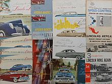 Late 1930's-1960's Lincoln and Lincoln Zephyr brochures, 40 items