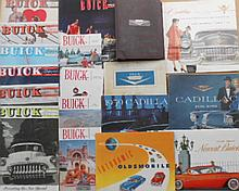 1940'-1950's Buick, Oldsmobile, Cadillac brochures, 37 items