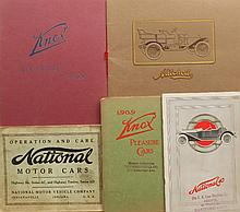 Four catalogs - 1909 & 1913 Knox, 1909 Mitchell, 1914 National and 1916 National Oper & Care manual