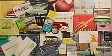 1950-1958 General Motors products brochures - 25 large, 18 small, 9 cards