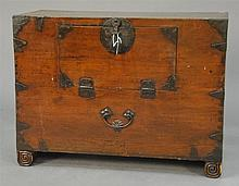 Korean chest with opening front. ht. 21in.; wd. 28in.