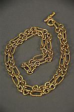 David Yurman 18K gold chain. lg. 32in.; 96.8 grams.