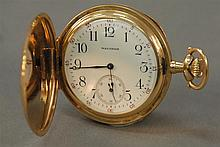 Waltham 14K gold closed face pocket watch.