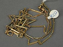 Three 14K gold watch chains, 21.1 grams.