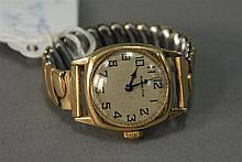 14K gold Hamilton ladies wristwatch.