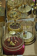 Four box lots to include cigarette and cigar dispensers, boxes, bird music boxes, etc.
