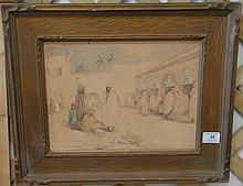 Herbert Cyrus Farnum (1866-1925) BISKRA, watercolor, signed lower left H. Cyrus Farnum, Biskra 10