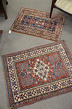 Two Oriental mats, (2'2