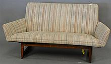 Danish modern settee attributed, Illum Wikkelso, wd. 62 in.