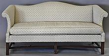 Chippendale style camel back sofa. wd. 75 in.