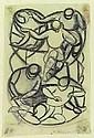 Ackermann, Max: Figures composition, 1917. Pencil/paper. Signed, dated. Berlin, 1887 -  Stuttgart, 1975 27 x 18 cm, R. E600 EUR
