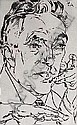 Ackermann, Max (1887 - 1975): Self portrait, 1924. Etching. Signed, dated and annotated 'E.A.'. 46 x 29 cm, o.R.