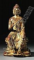 A FINE CAST GILT-BRONZE FIGURE OF BUDDHA MAITREYA, China, 9th/10th century. A.D. H. 14  cm
