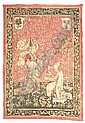 A tapestry, probably FRANCE, late 19th  Century rewoven areas.  222 x 159cm