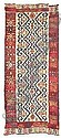 A kilim, CENTRAL ANATOLIA, mid 19th Century small rewoven areas.  365 x 148cm