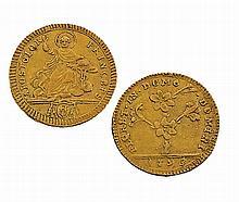 VATICAN : Pie VI (1774-1799) Doppia. 1793. Fr 246. TTB.