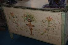 Painted Chest with Drawers