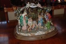 Limited Edition Nativity Set, Capodimonte, 16 Inches Hx23 Inches W