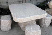 5-Piece Granite Table and Stools