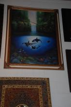 Oil on Canvas, Whales, Framed