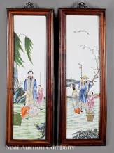 Chinese Famille Rose Porcelain Wall Plaques