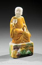 Chinese Tri-Glazed Figure of a Monk