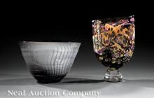 Art Glass Vase by McIlhenny and a Bowl