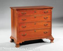 American Chippendale Cherrywood Chest of Drawers