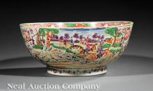 Chinese Export Famille Rose Porcelain Punchbowl