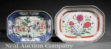 Chinese Export Blue and White Porcelain Platters